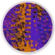 0347 Abstract Thought Round Beach Towel