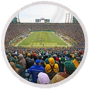 0350 Lambeau Field Round Beach Towel