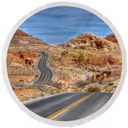 0445 Valley Of Fire Nevada Round Beach Towel