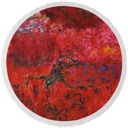 045 Abstract Thought Round Beach Towel