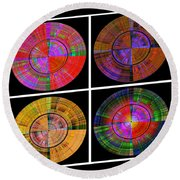 0454 Abstract Thought Round Beach Towel by Chowdary V Arikatla
