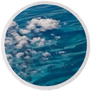 0458 Above The Caribbean Round Beach Towel