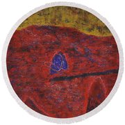 046 Abstract Thought Round Beach Towel