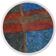 047 Abstract Thought Round Beach Towel