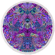 0476 Abstract Thought Round Beach Towel
