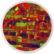 0480 Abstract Thought Round Beach Towel