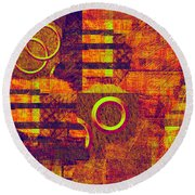 0482 Abstract Thought Round Beach Towel