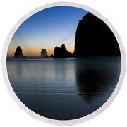 0514 Cannon Beach - Oregon Round Beach Towel