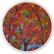 052 Abstract Thought Round Beach Towel