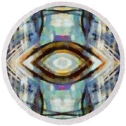 0533 Round Beach Towel by I J T Son Of Jesus