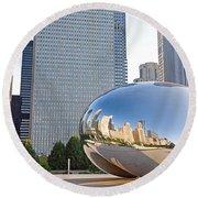 0553 Millennium Park Chicago Round Beach Towel