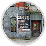 0605 Old Foundry Building Round Beach Towel