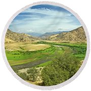 0636 Kings Canyon National Park Round Beach Towel