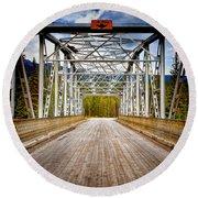 0649 Bow River Bridge Round Beach Towel