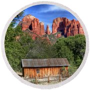 0682 Red Rock Crossing - Sedona Arizona Round Beach Towel