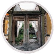 0707 Jerome Ghost Town Round Beach Towel