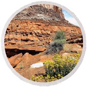 0712 Guardian Of Canyonland Round Beach Towel