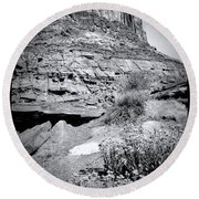 0715 Guardian Of Canyonland Round Beach Towel