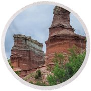 07.30.14 Palo Duro Canyon - Lighthouse Trail  19e Round Beach Towel