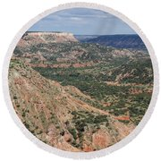07.30.14 Palo Duro Canyon - Lighthouse Trail 5e Round Beach Towel