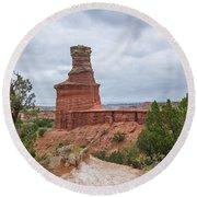 07.30.14 Palo Duro Canyon - Lighthouse Trail 62e Round Beach Towel
