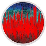 0738 Abstract Thought Round Beach Towel
