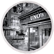0748 Uno's Pizzaria Round Beach Towel