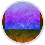 0770 Abstract Thought Round Beach Towel