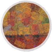 0774 Abstract Thought Round Beach Towel