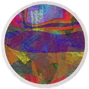 0781 Abstract Thought Round Beach Towel