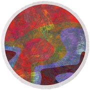 0782 Abstract Thought Round Beach Towel