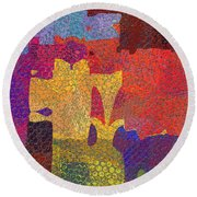 0787 Abstract Thought Round Beach Towel