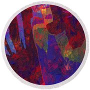 0788 Abstract Thought Round Beach Towel