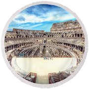0795 Roman Colosseum Round Beach Towel