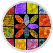 0804 Abstract Thought Round Beach Towel