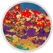 0806 Abstract Thought Round Beach Towel