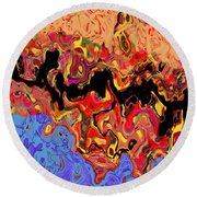 0809 Abstract Thought Round Beach Towel