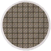 0811 Abstract Thought Round Beach Towel