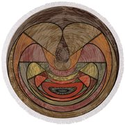 0815 Abstract Thought Round Beach Towel