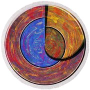 0826 Abstract Thought Round Beach Towel