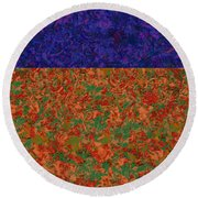 0834 Abstract Thought Round Beach Towel