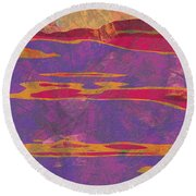 0858 Abstract Thought Round Beach Towel