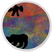 0864 Abstract Thought Round Beach Towel