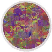 0866 Abstract Thought Round Beach Towel