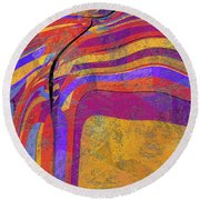 0871 Abstract Thought Round Beach Towel