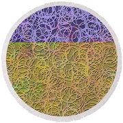 0872 Abstract Thought Round Beach Towel