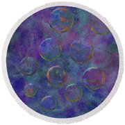 0877 Abstract Thought Round Beach Towel