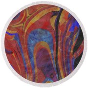0880 Abstract Thought Round Beach Towel