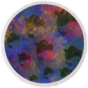 0885 Abstract Thought Round Beach Towel