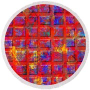 0890 Abstract Thought Round Beach Towel